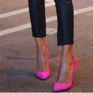 Electric pink heels